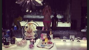 Christina Aguilera topless szelfizett