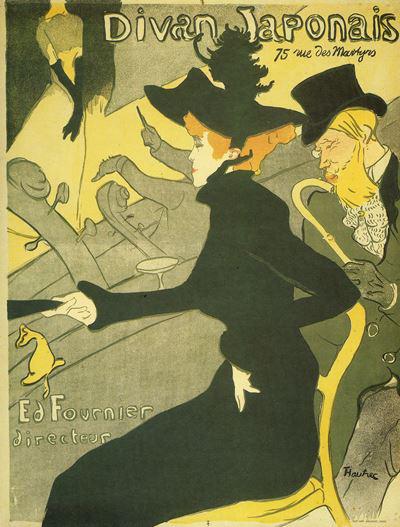 Toulouse-Lautrec - Divan Japonais, 1893