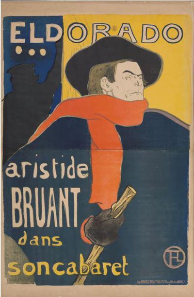 Toulouse-Lautrec - Eldorado, Aristide Bruant, 1892