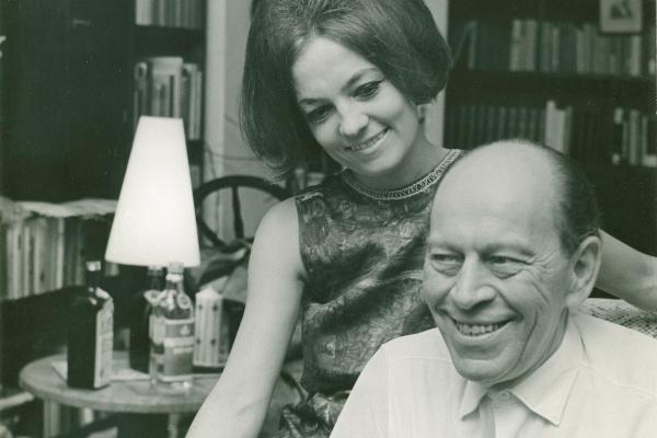 Örkény István harmadik feleségével Radnóti Zsuzsával a 60-as években