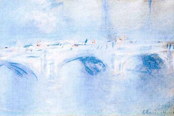 Claude Monet: Waterloo híd (részlet)