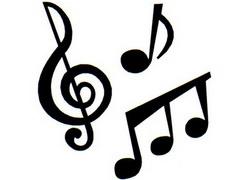 zene, hangjegyek, violinkulcs, kotta