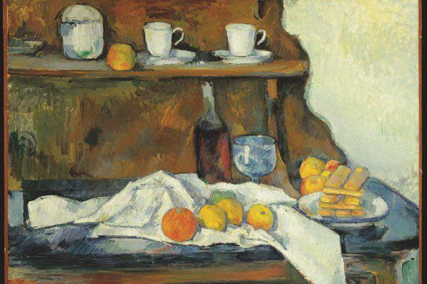 Paul Cézanne: A tálaló (Szépűvészeti Múzeum) - részlet