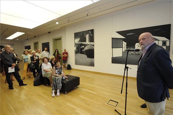 Viktor Meshikoff műgyűjtő Fehér László kiállításának megynitóján