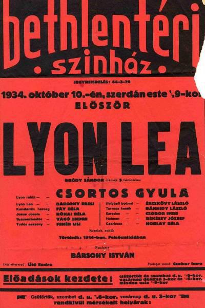 A Lyon Lea plakátja 1934-ből