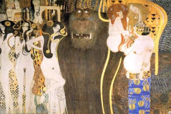 Gustav Klimt: Beethoven-fríz (részlet)
