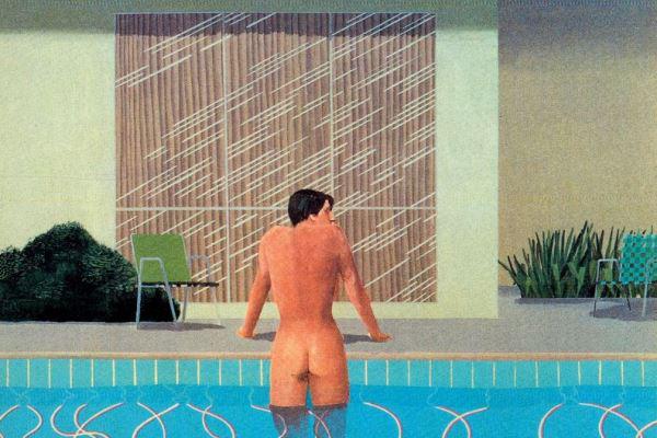 David Hockney egyik festményének részlete