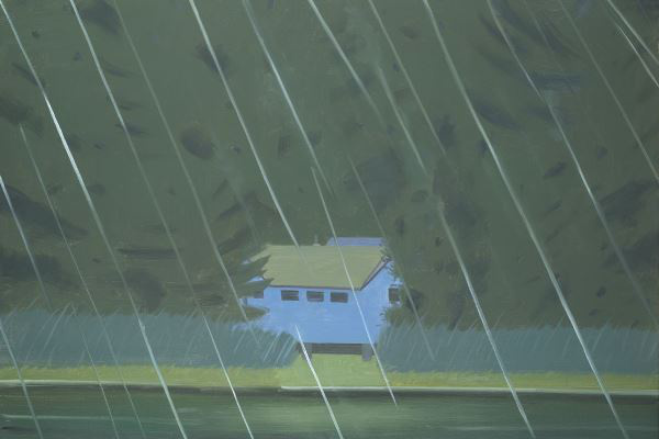 Alexander Katz: Rain (Albertina, Sammlung Batliner © Bildrecht, Wien, 2014)