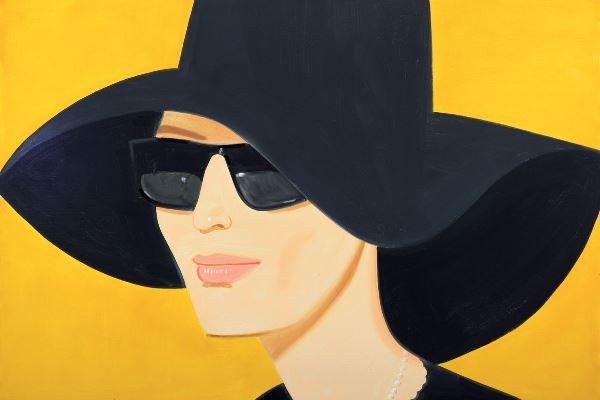 Alexander Katz: Black Hat (Albertina, Sammlung Batliner © Bildrecht, Wien, 2014)