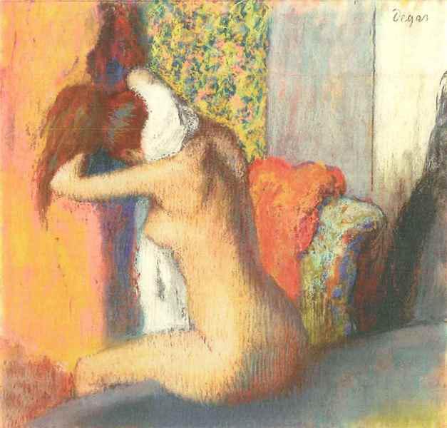 Edgar Degas: Fürdés után (Nyakát törlő nő), 1885 - 1886