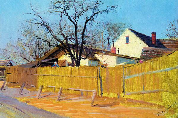 Mednyánszky László: Téli utca (1890-es évek első fele)