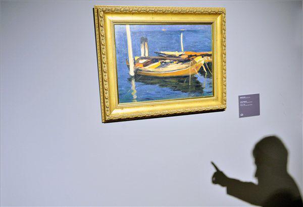 Koszta József Csónak című alkotása az MNG-ben