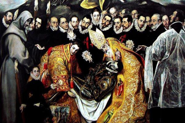 El Greco: Orgaz gróf temetése - részlet