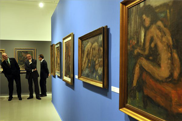 A Czóbel, egy francia magyar c. kiállítás