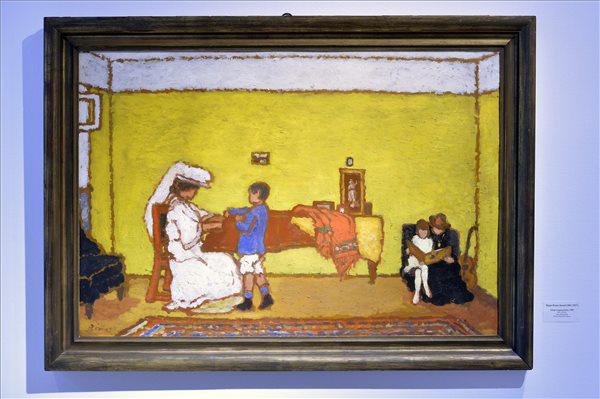 Rippl-Rónai József Sárga zongoraszoba című festménye A titkos gyűjteményben