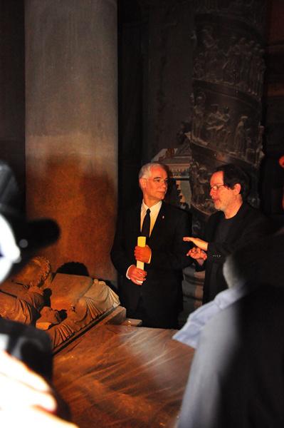 Bejárás a Román Csarnokban a Múzeumi negyed sajtótájékoztatóján