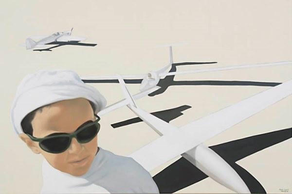 Fehér László: Gyermek repülőgép modellekkel (2004)