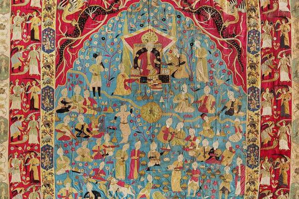 Az Esterházy-kincstár perzsa kárpitjának részlete