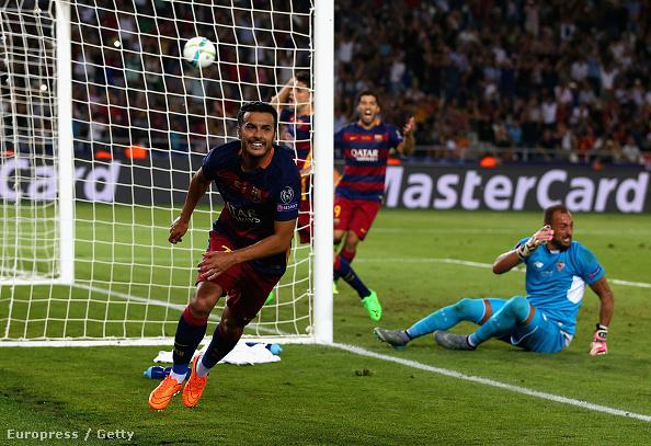 Pedro lőtte a Barcelona ötödik gólját a Sevilla ellen