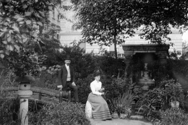 Hopp Ferenc Andrássy úti kertje az 1900-as évek elején