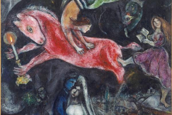 Marc Chagall: A vörös ló (részlet)