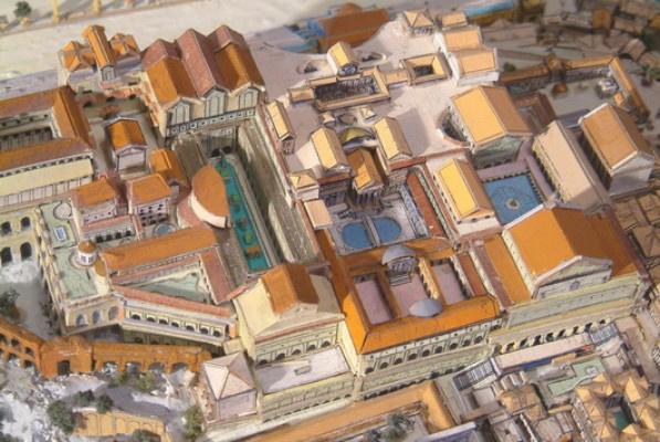 Augustus villája - rekonstrukciós elképzelés