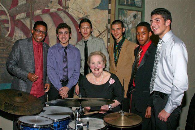 Madelaine Albright jazz-hallgatók körében