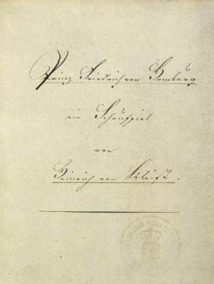 Homburg hercege kézirat