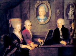 Mozart család (Johann Nepomuk della Croce, 1781)