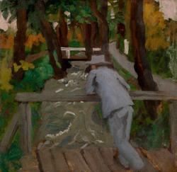 Ferenczy Károly: Ember a hídon (1912)
