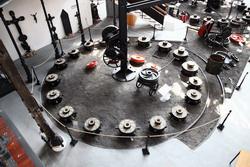 Az Öntöde Múzeum formázó tere