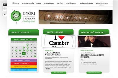 www.gyfz.hu, Győri Filharmonikusok