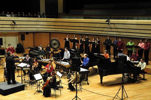 Amadinda Ütőegyüttes, Rácz Zoltán, Steve ReichAmadinda 25, jubileumi koncert, Müpa, díszvendég: Steve Reich