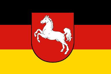 Niedersachsen tartomány zászlója