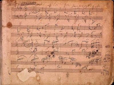 Beethoven: Hammerklavier-szonáta kézirat