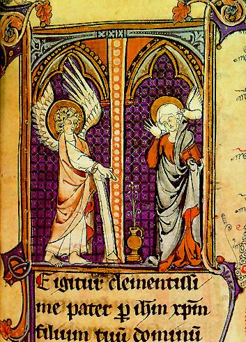 Angyali üdvözlet - 14. századi bencés breviárium-misszálé