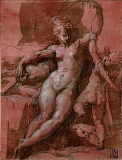 Parmigianino: Vénusz lefegyverzi Ámort