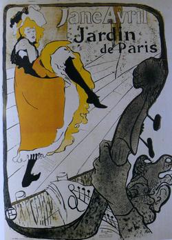 Lautrec: Jane Avril Jardin de Paris plakát
