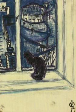 Mersits Piroska: Macska az ablakban