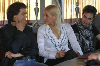 A Hair főszereplői: Dolhai Attila, Peller Anna és Kerényi Miklós Máté