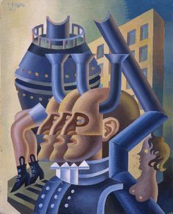 Depero: Fejek és csövek (1945)
