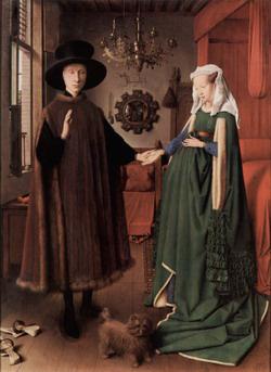 Jan van Eyck: Az Arnolfini házaspár (1434)