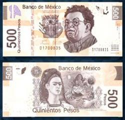 500 peso - Kahlo és Rivera