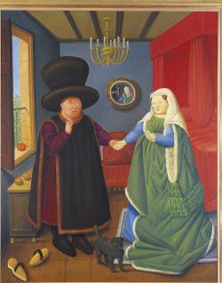 Fernando Botero: Arnolfini házaspár (2006)