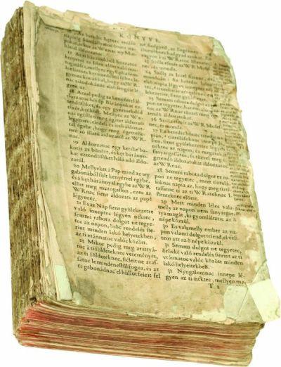 Vizsolyi Biblia (részlet)