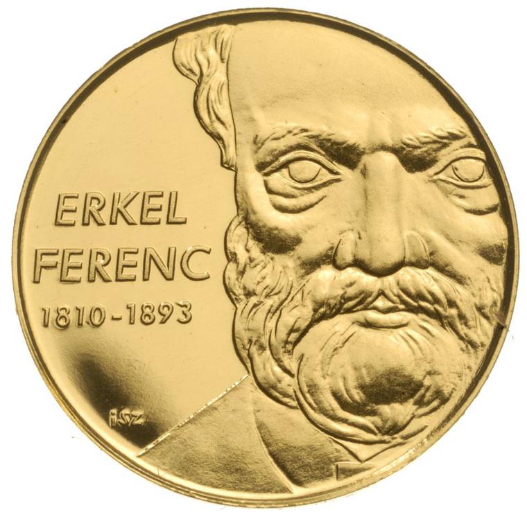 Arany és ezüst Erkel-emlékérme