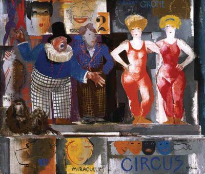 Aba-Novák Vilmos: Cirkuszi kikiáltó