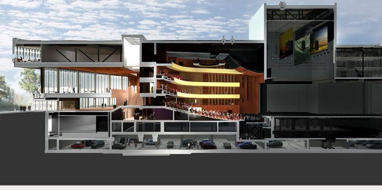 Linzi operaház, látványterv