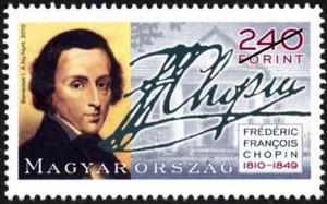 Chopin-bélyeg, Magyar Posta 2010
