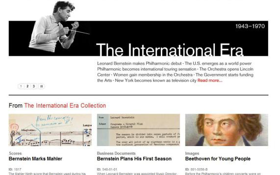 A New York-i Filharmonikusok online archívuma